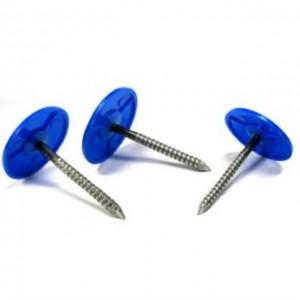 Q195 Material Plastic Cap Nail 2.8mm Wire Dia